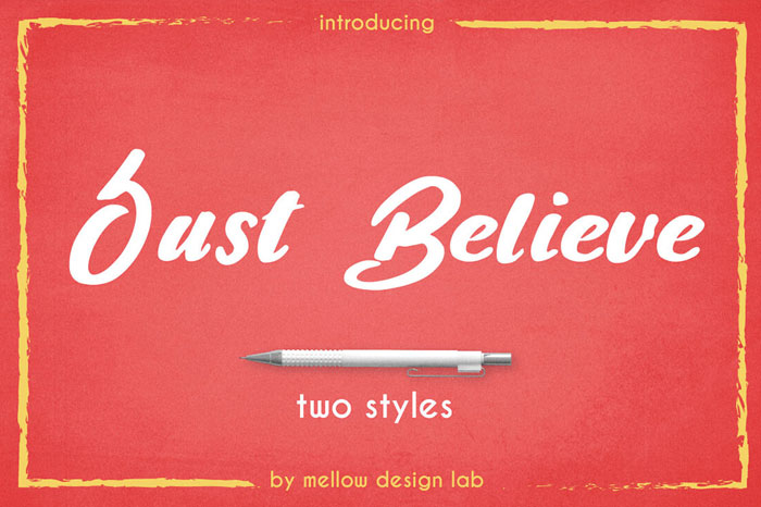 Just-Believe-Brush-Style-Font