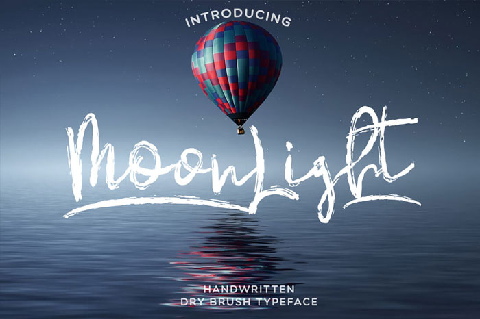 MoonLight-Handwritten-Dry-Brush-Typeface