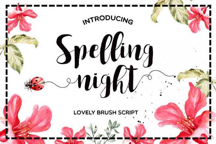Spelling-Night-Lovely-Brush-Script