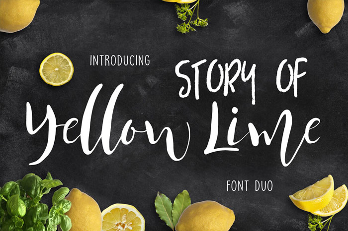 Story-of-Yellow-Lime-Font