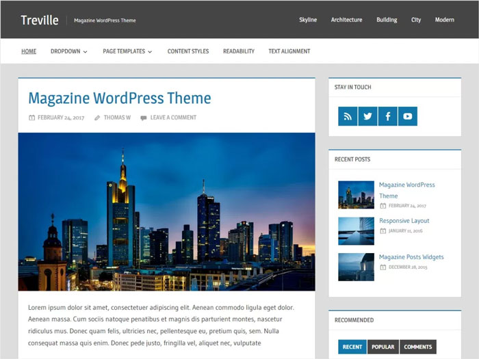 Treville-Elegant-Blogging-&-Magazine-Free-WordPress-Theme