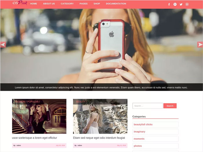 o3pink-Clean-Free-WordPress-Blog-Theme