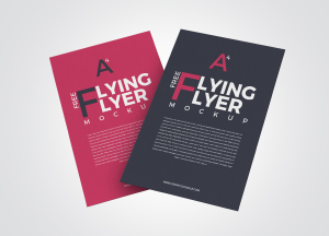 Free 2 Flying Flyer Mockup