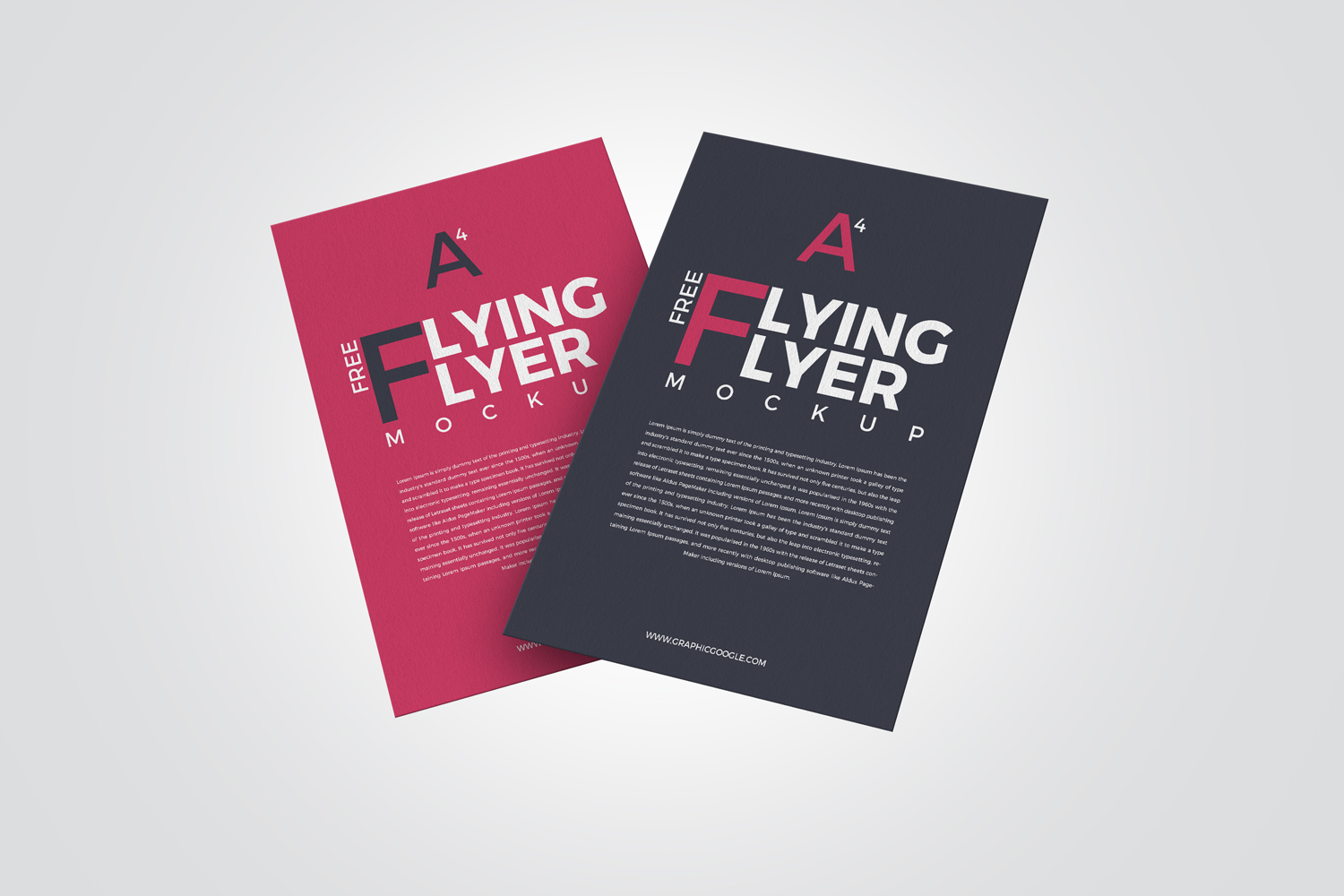 free 2 flying flyer mockup graphic google tasty graphic designs