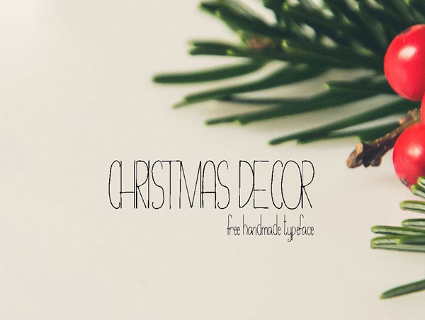Free-Christmas-Decor-Hand-Drawn-Typeface