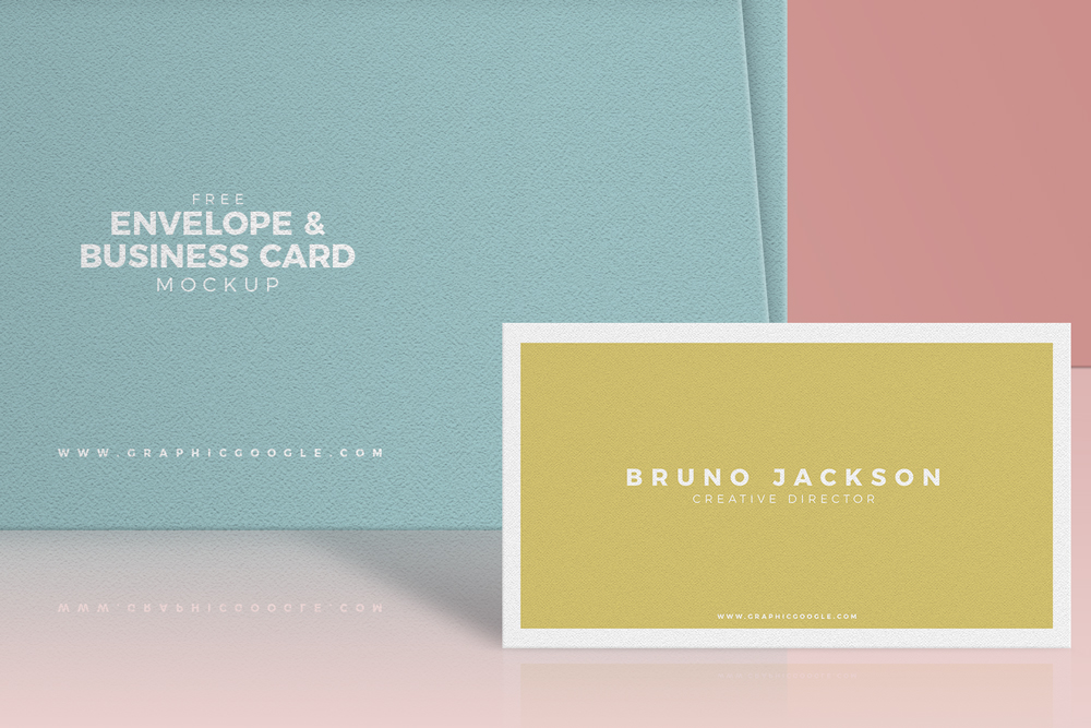 Free-Envelope-&-Business-Card-Mockup-PSD-Preview