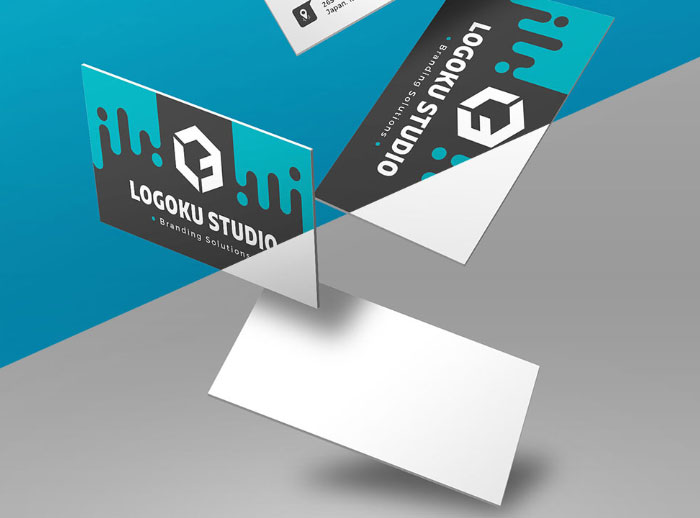 Free-Floating-Business-Card-Mockup-With-5-Different-Scenes
