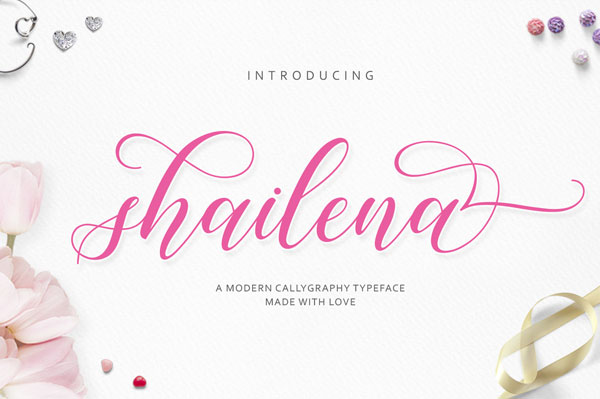 Free-Shailena-Calligraphy-Font