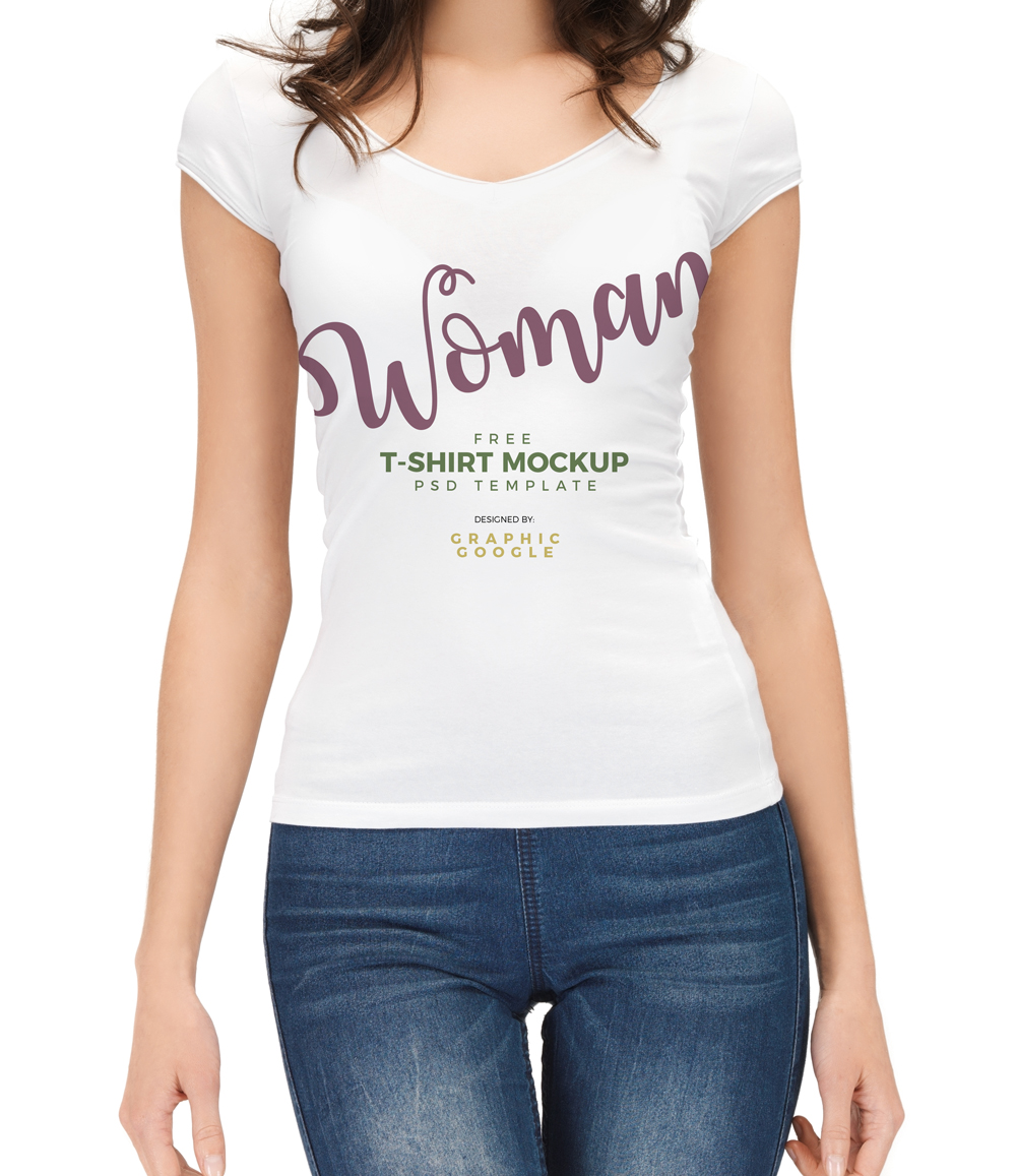 Free-woman-With-T-Shirt-Mockup-PSD-Template-Preview-3