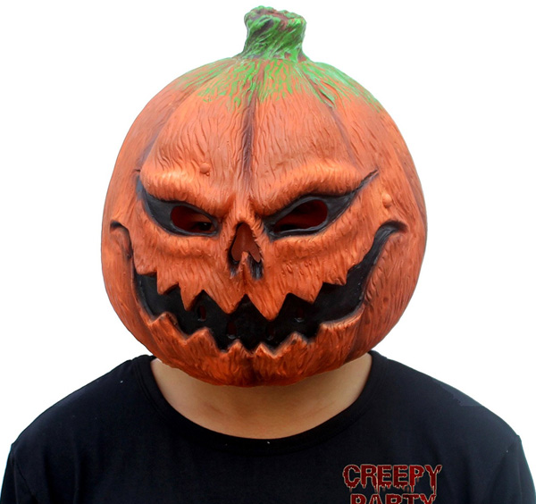 CreepyParty-Deluxe-Novelty-Halloween-Costume-Party-Props-Latex-Pumpkin-Head-Mask