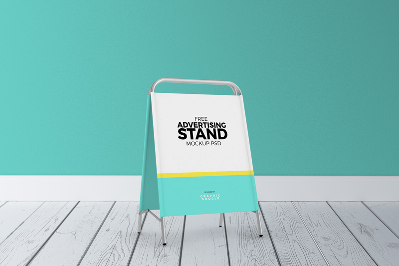 Stand Up Banner Designs : Free advertising stand mockup psdgraphic google tasty