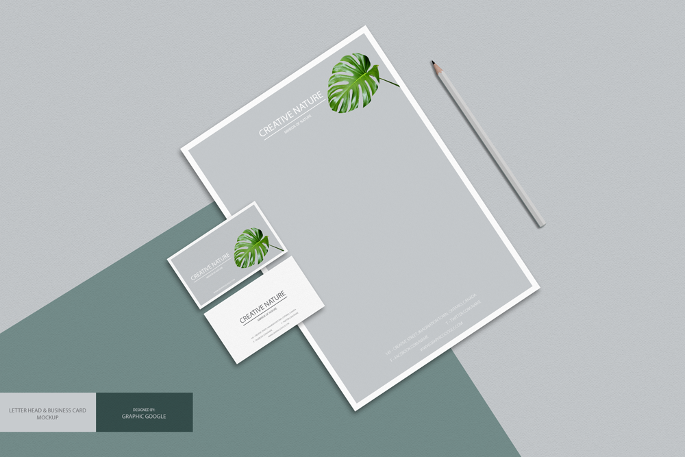 Free-Letter-Head-and-Business-card-Mockup-PSD