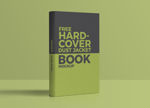 Free Hardcover Dust Jacket Book Mockup