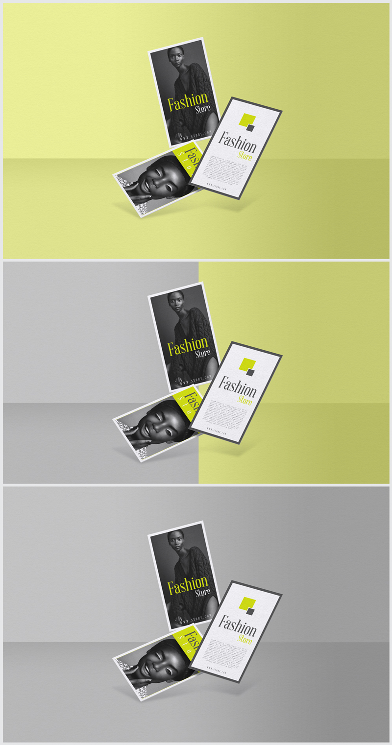 Free-Floating-in-Air-Business-Cards-Mockup
