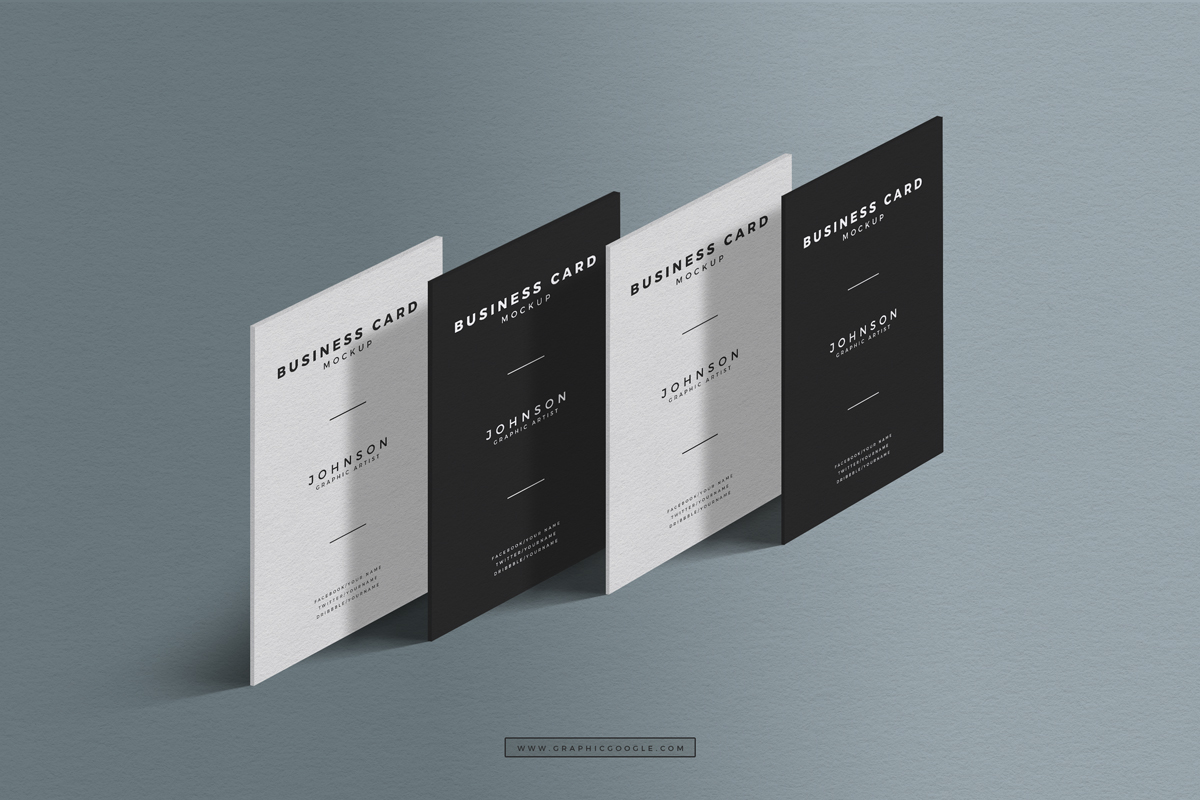 Free standing presentation business card mockup colourmoves