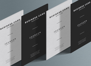 Free Standing Presentation Business Card Mockup