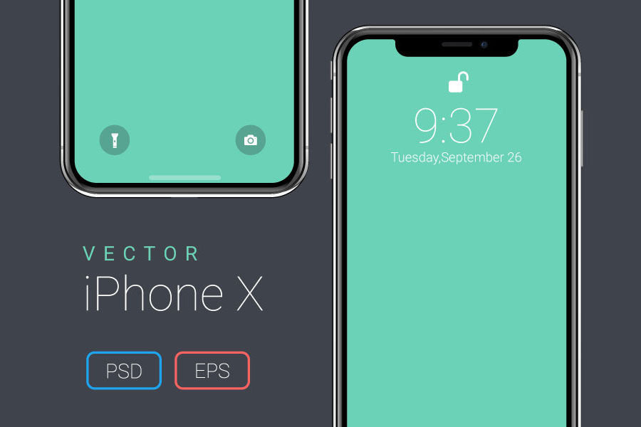 Vector-iPhone-X-Mockup
