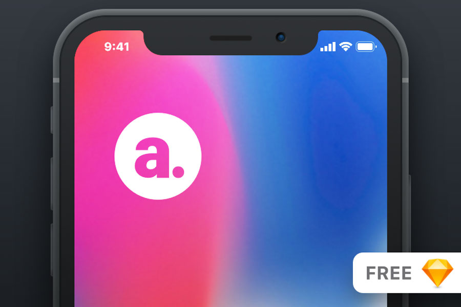 iPhone-X-Mockup-for-Sketch-Vector-Graphic