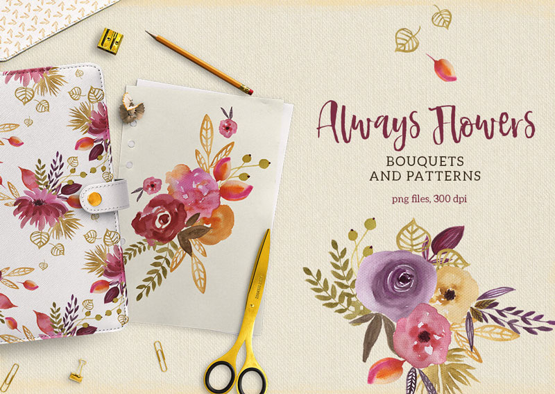 Always-Flowers-Bouquets-and-Patterens-PNG-Files