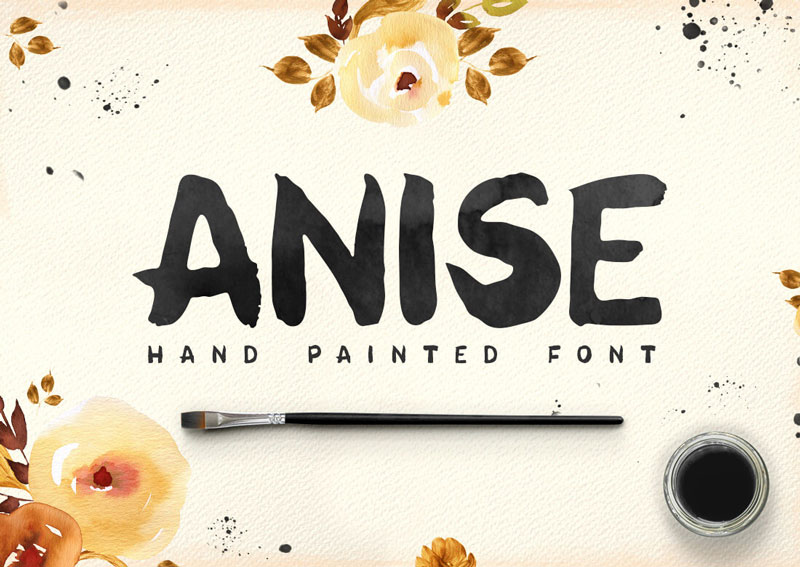Anise-hand-Painted-Font