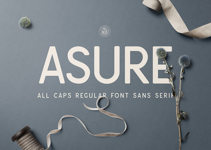 Asure-All-Caps-Regular-Font-Sans-Serif