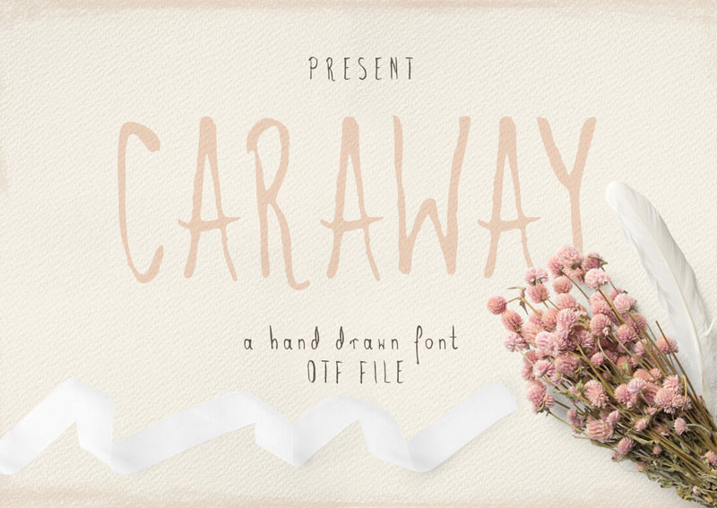 Caraway-A-hand-Drawn-Font-OTF-File