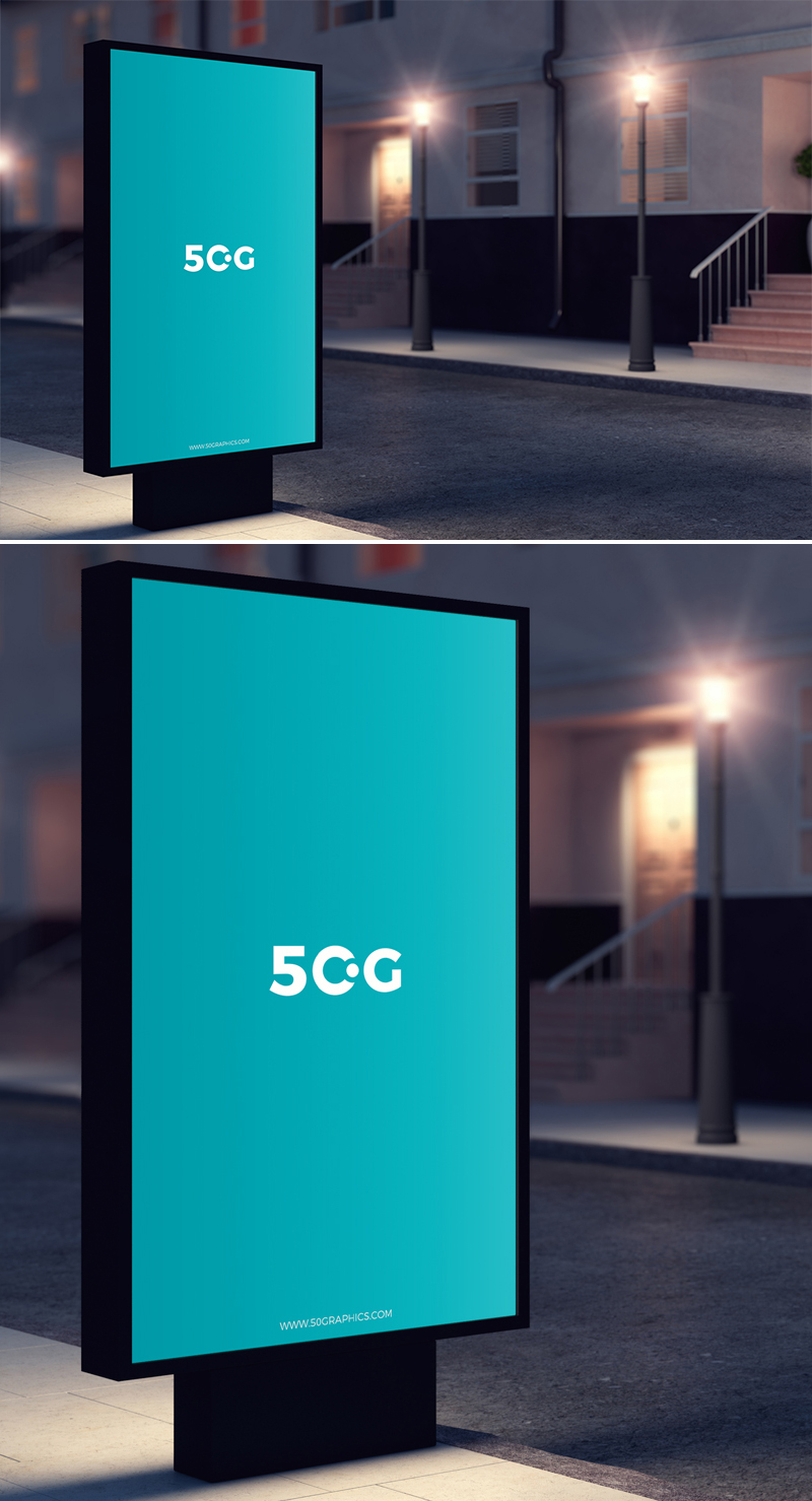 Free-Outdoor-Night-Street-Advertisement-Billboard-Mockup