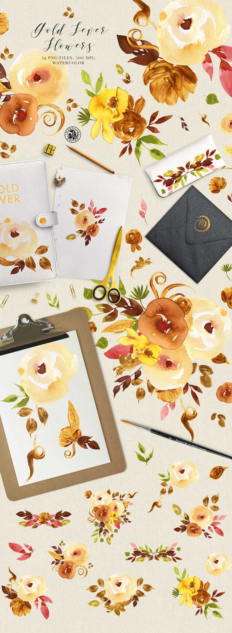 Gold-Fever-Flowers-34-PNG-Files-Watercolor
