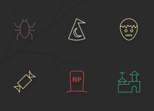 Free 20 Halloween Vector Line Icons