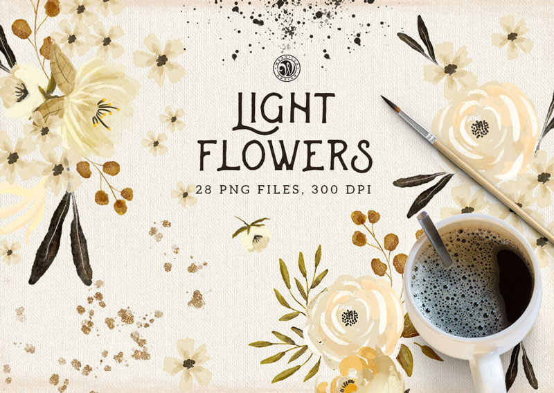 Light-Flowers-28-PNG-Files