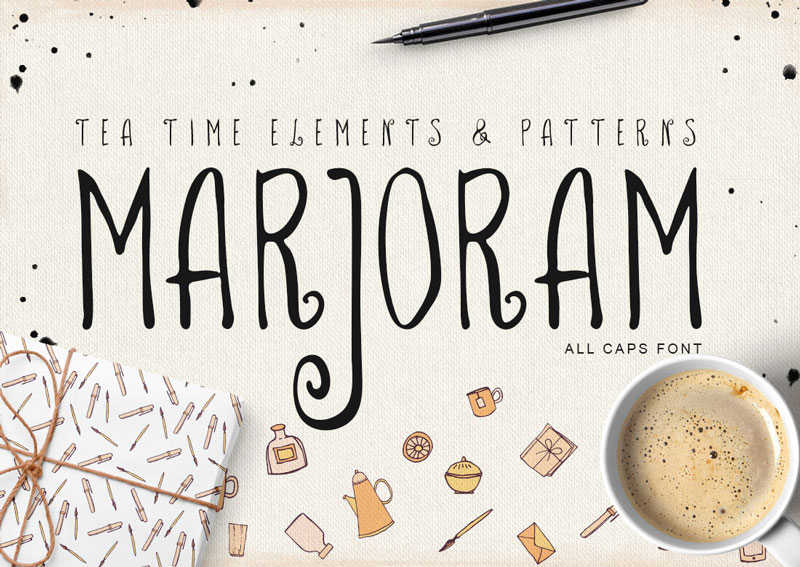 MARJORAM-All-Caps-Font