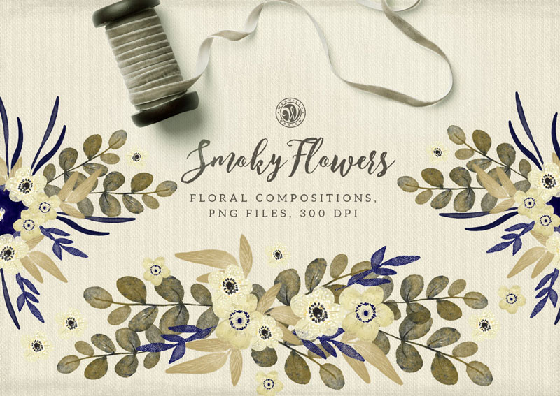 Smoky-Flowers-Floral-Composition-PNG-Files