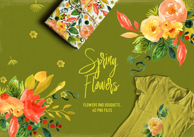 Spring-Flowers-And-Bouquets-40-PNG-Files