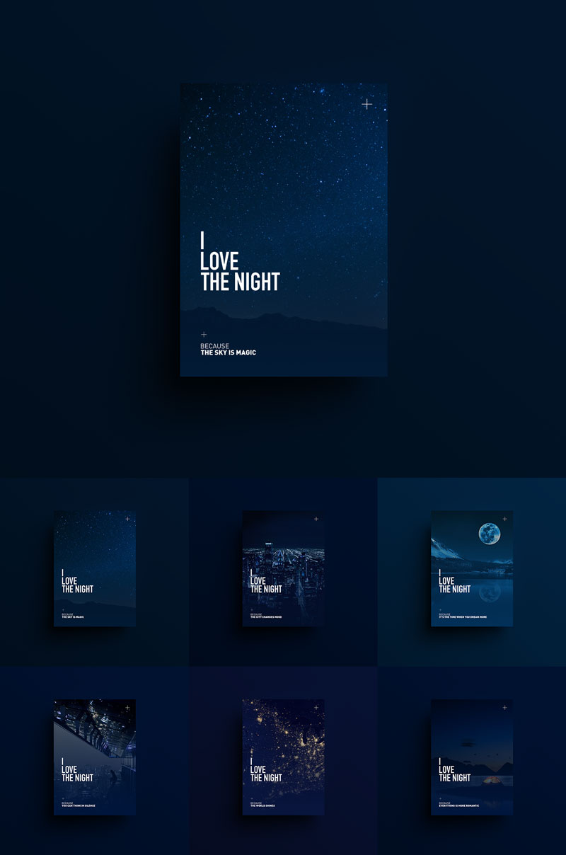 I-LOVE-THE-NIGHT-Creative-Poster-Design-For-Inspiration