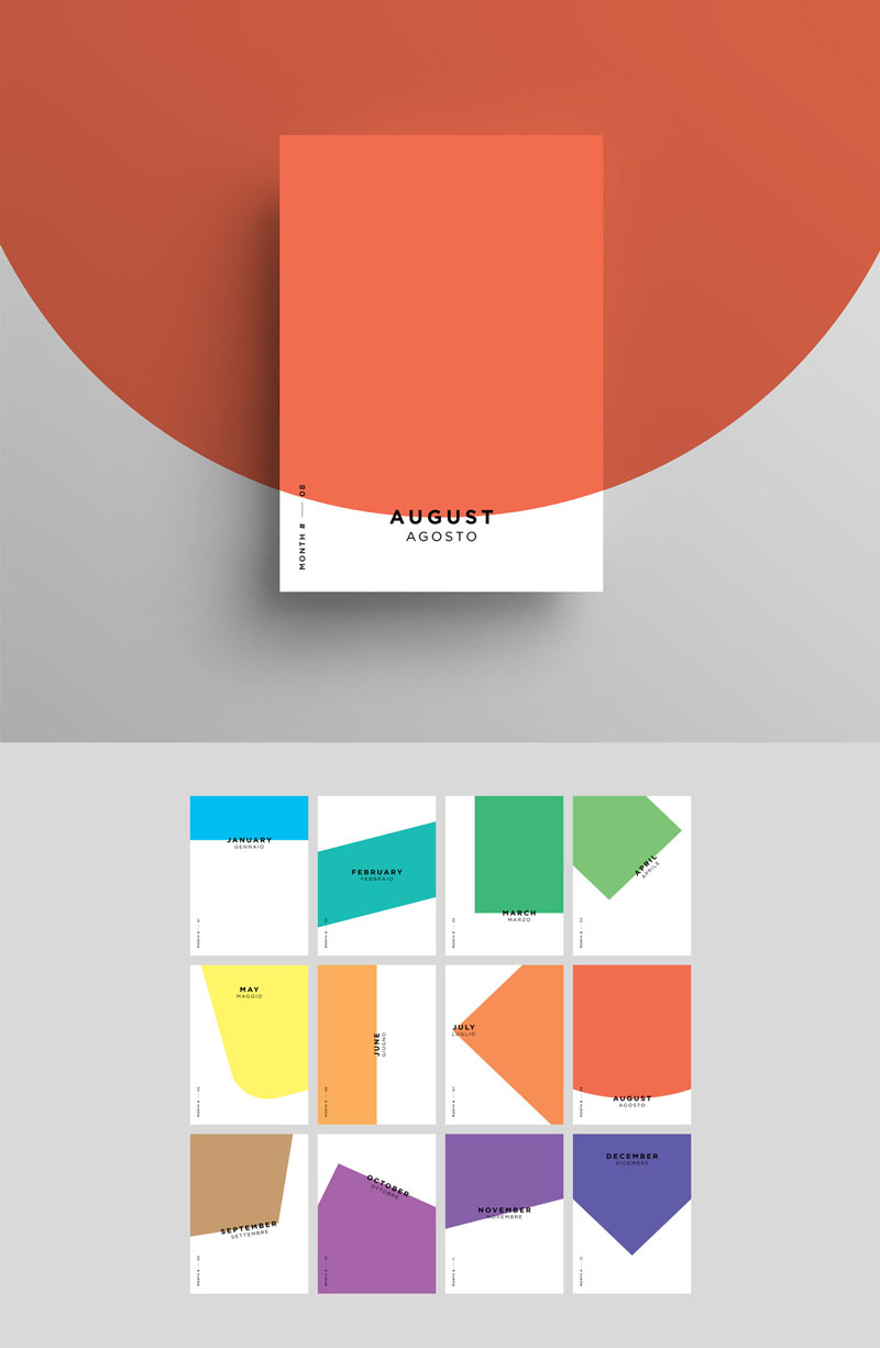 MINIMAL-MONTHS-Creative-Poster-Design-For-Inspiration