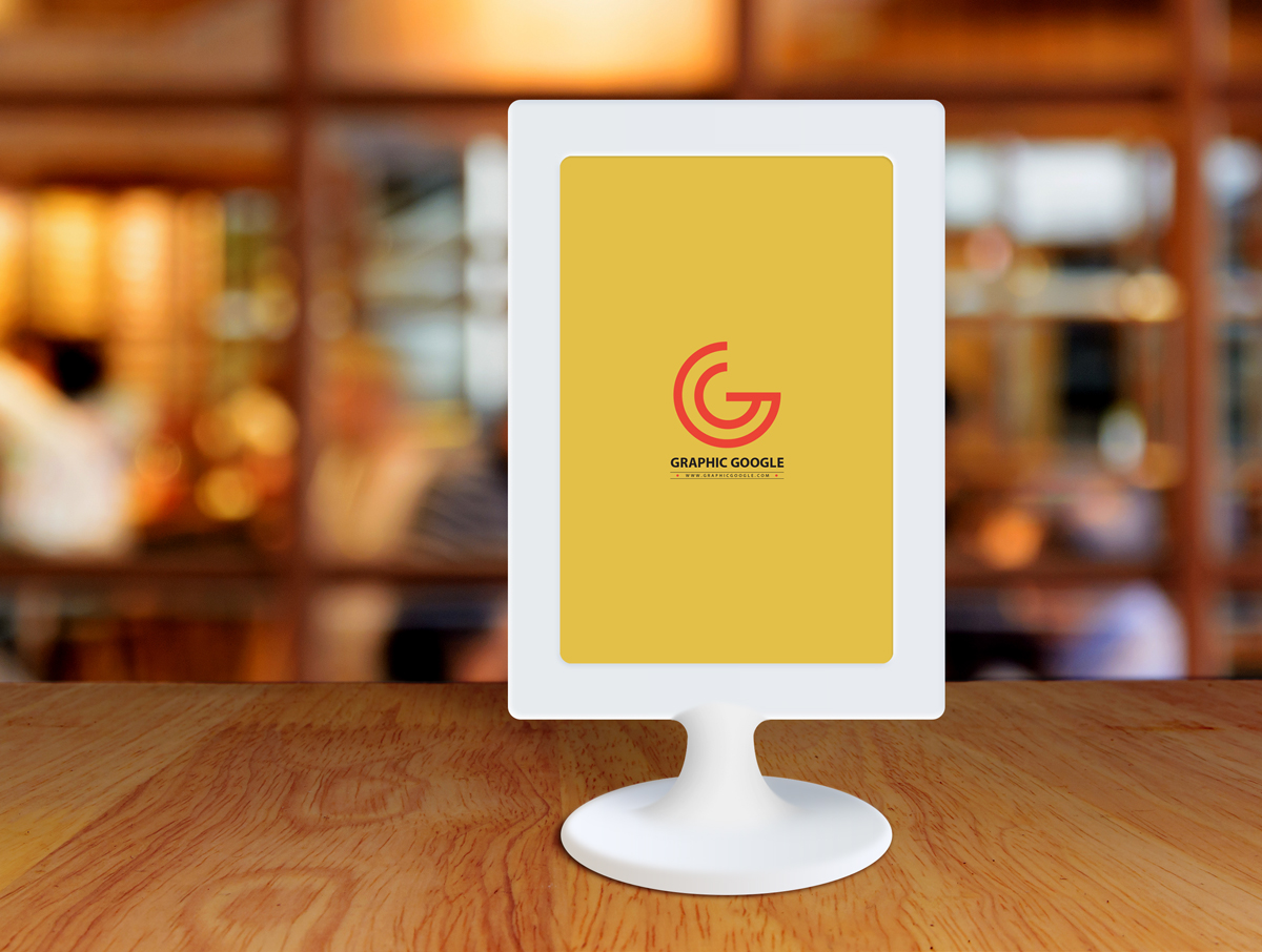 Free-Restaurant-Menu-Frame-on-Table-Mockup