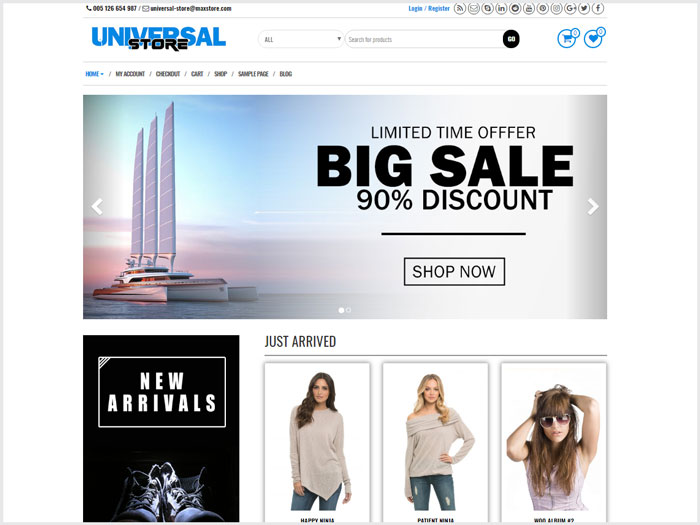 Universal-Store-WordPress-theme-Suitable-For-eCommerce-Websites