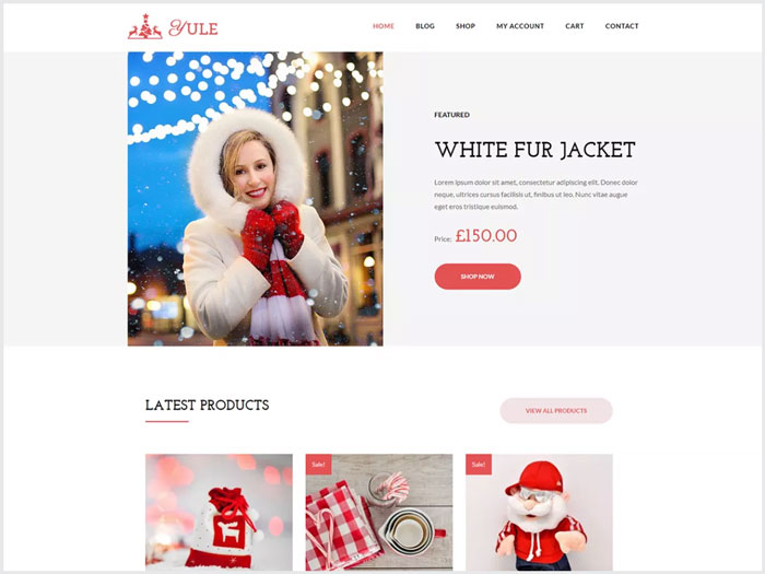 Yule-A-Simple-eCommerce-WordPress-theme