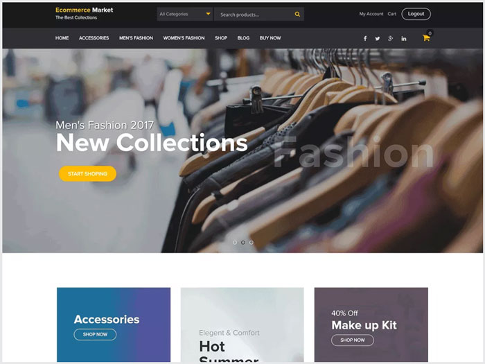 eCommerce-Market-WooCommerce-Widget-Based-WordPress-theme