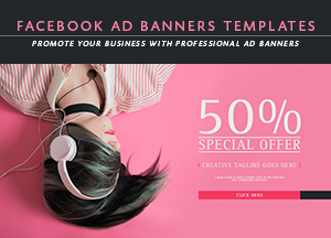 6 Free Facebook Ad Banners Templates