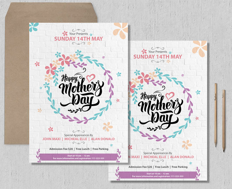 Free-Beautiful-Mothers-Day-Flyer-Template