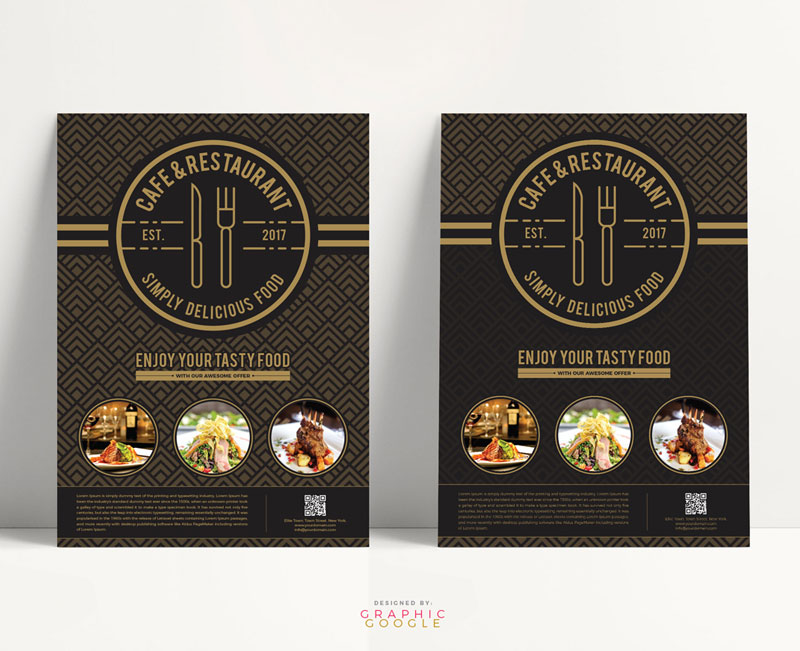 Free-Cafe-&-Restaurant-Flyer-Design-Template