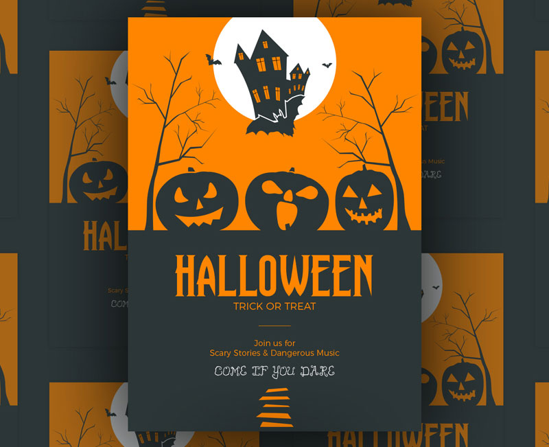 Free-Halloween-Trick-or-Treat-Vector-Flyer-Template