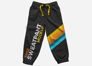 Free Sweatpants Mockup