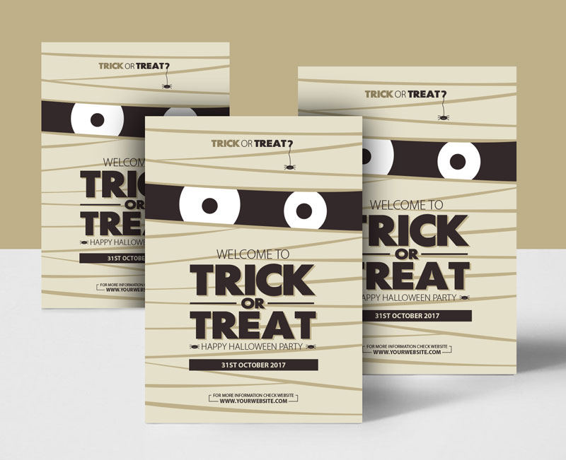 Free-Trick-or-Treat-Halloween-Party-Flyer-Template