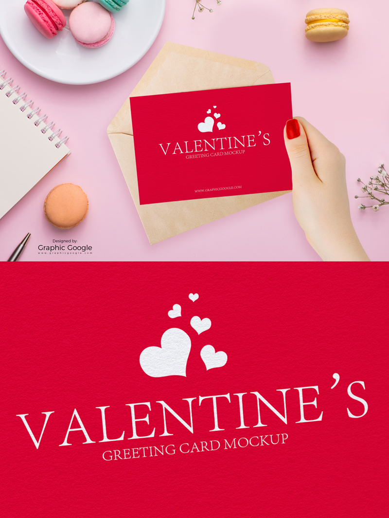 Free-Valentines-Greeting-Card-in-Girl-Hand-Mockup