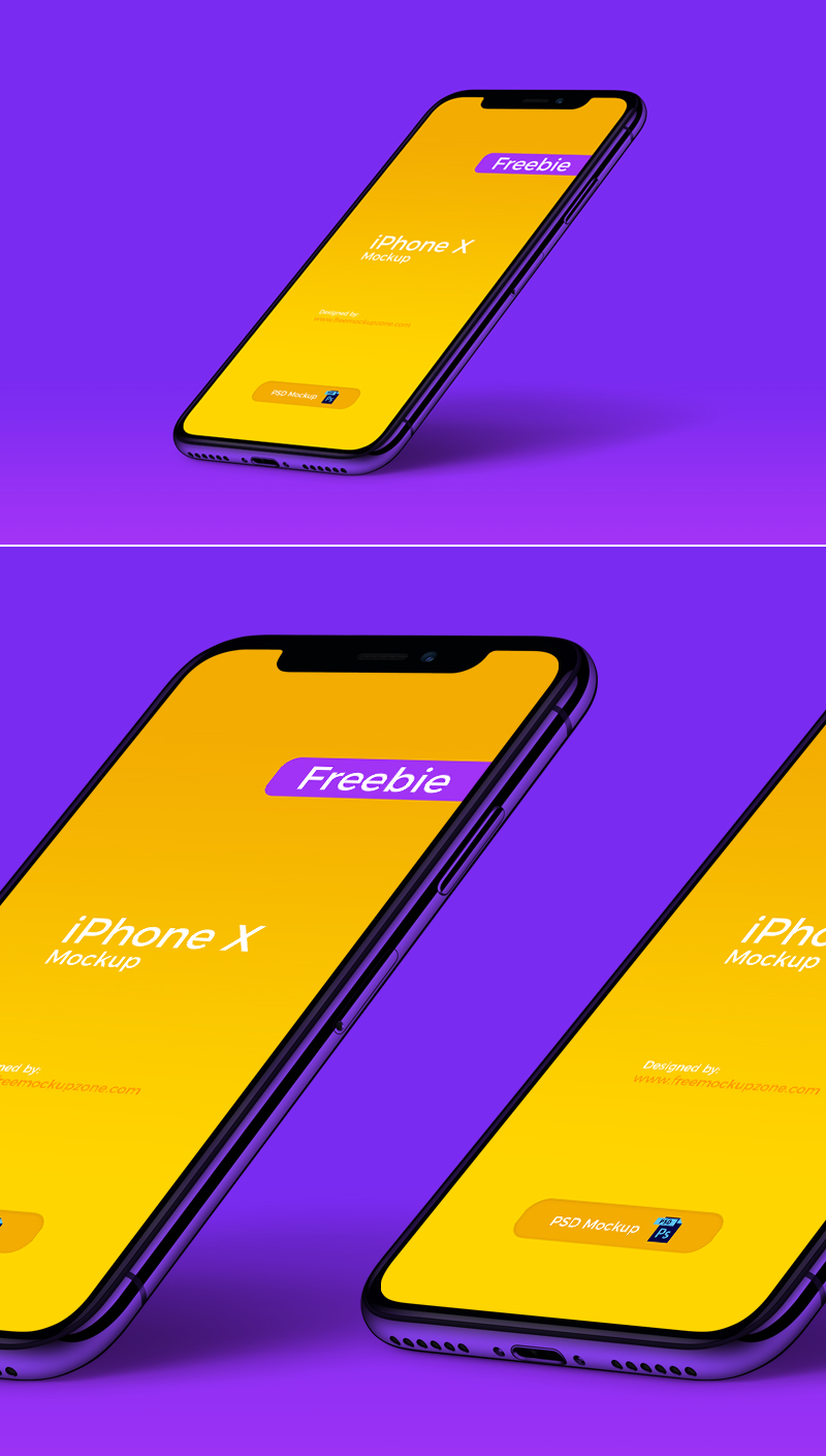 Free-iPhone-X-in-Perspective-View-Mockup