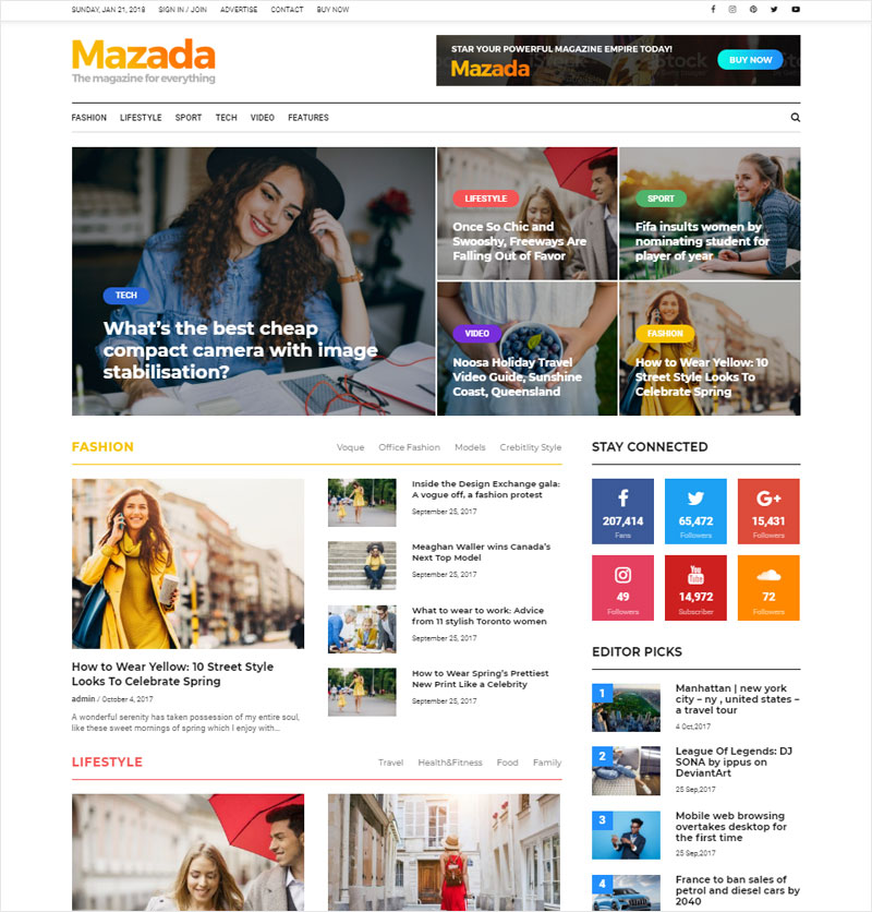 10 Newest Newspaper & Magazine WordPress Themes of 2018