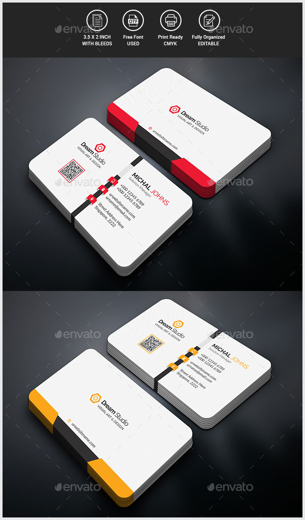 20+ Smart Business Cards of 2018 For Smart & Creative Designers