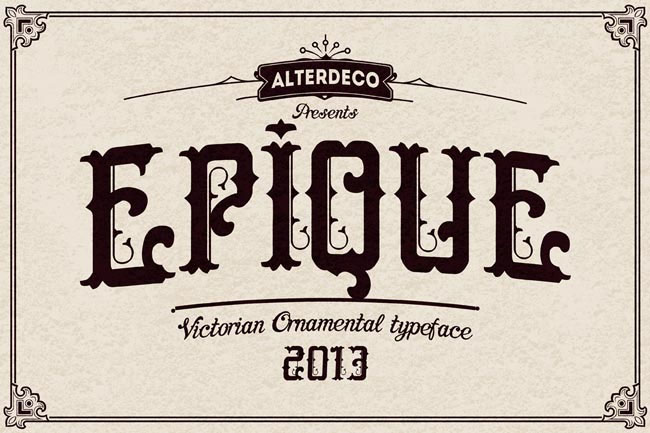 Epique-Victorian-and-ornamental-Vintage-typeface